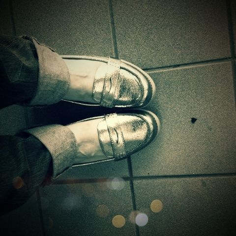 """That's ME! """"KELSI SMITH wears our INVESTIGATE loafer flats in Pewter"""""""