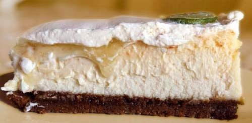 Cheesecake and Key Lime Pie Stacked Over Graham Cracker Crust. Nifty ...