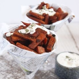 Sweet Potato Wedges with Blue cheese dip   recipes   Pinterest