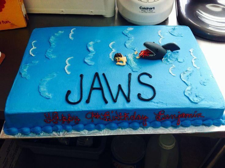 jaws birthday cake