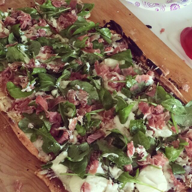 homemade spinach and ricotta pizza | Food | Pinterest