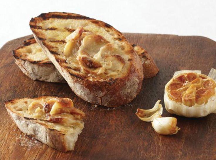 Garlic Bruschetta (I'd add tomatoes, Basil, and mozarella)