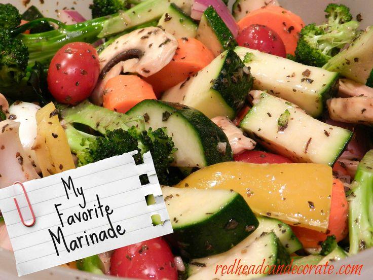 Paula Deen's healthy marinated vegetable salad.
