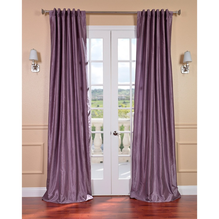 Smoky Plum Vintage Faux Dupioni Silk 84-inch Curtain Panel | Overstock ...