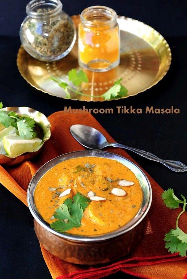 Mushroom tikka masala | Yum. Let's get busy. | Pinterest