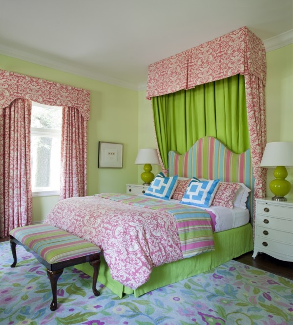 pink and lime green room