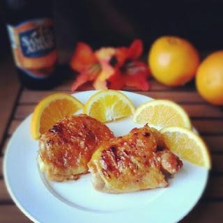 Sticky Orange-Glazed Chicken Thighs | Food and Drink | Pinterest