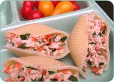Tuna Salad Stuffed Shells | Tuna Recipes | Pinterest