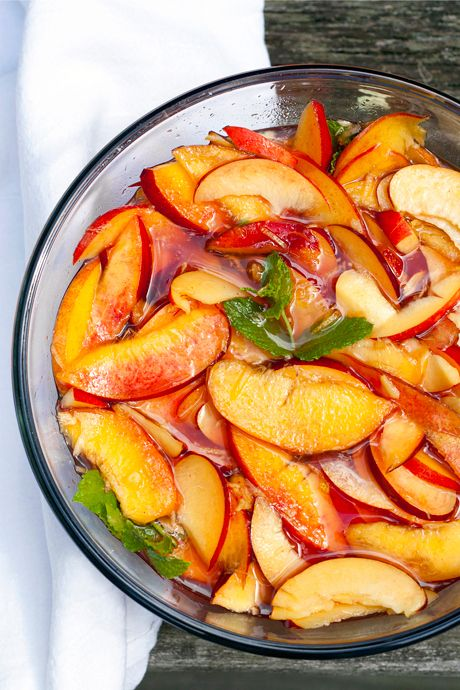Nectarine Preserves with Watermelon & Mint