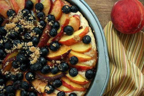 blueberry peach sonker cobbler