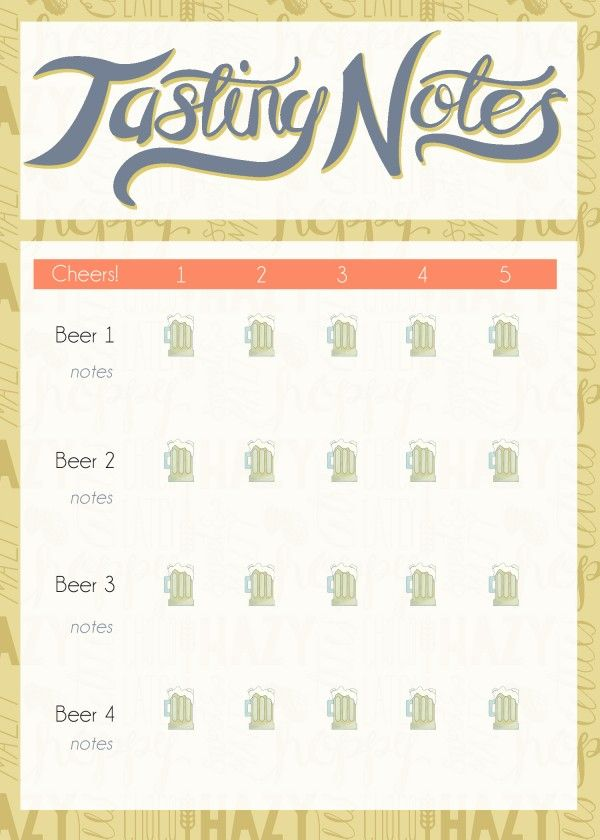 wine tasting journal template - beer tasting notes template pictures to pin on pinterest