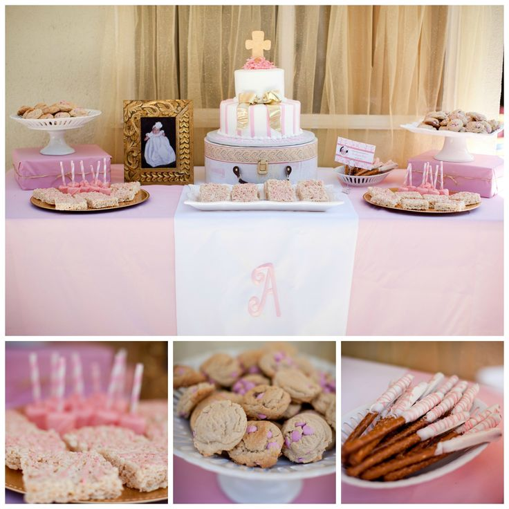 Cake Table Decoration For Baptism : Christening Cake Table Decoration Photograph Baptism Ideas
