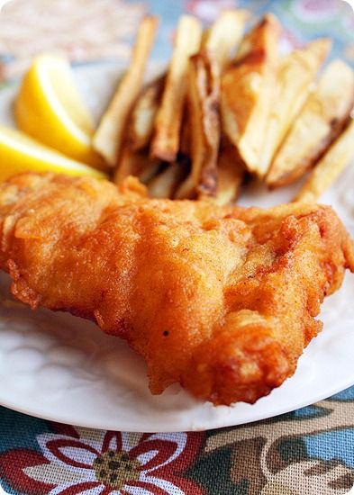 Beer battered fish and chips recipes dishmaps for Beer battered fish and chips