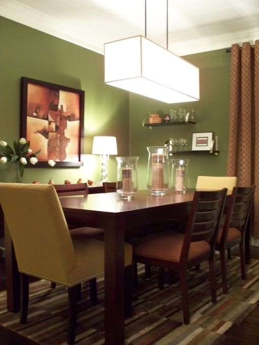 Dining room someday home pinterest for Dining room ideas green