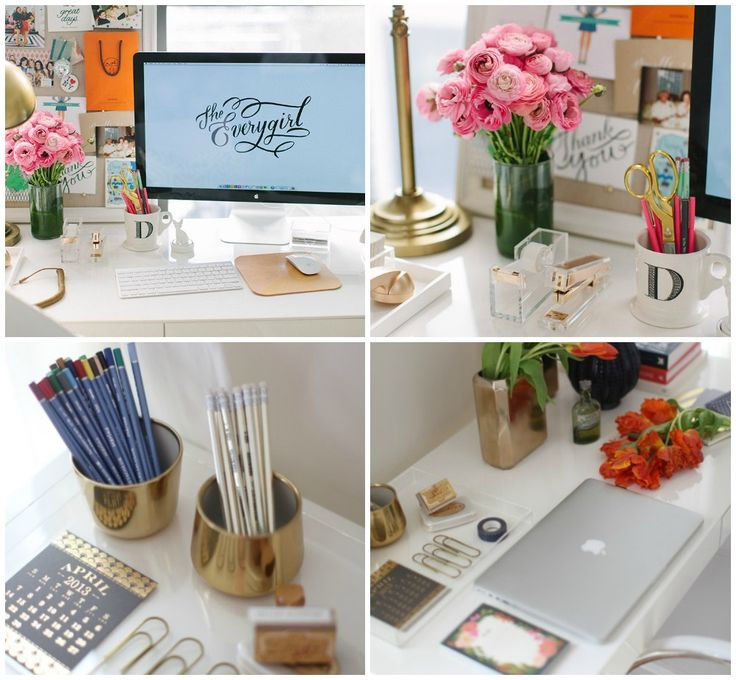 Loving beautiful desk decor pen my little apartment Office desk decoration ideas