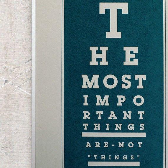 Eye chart reminder.