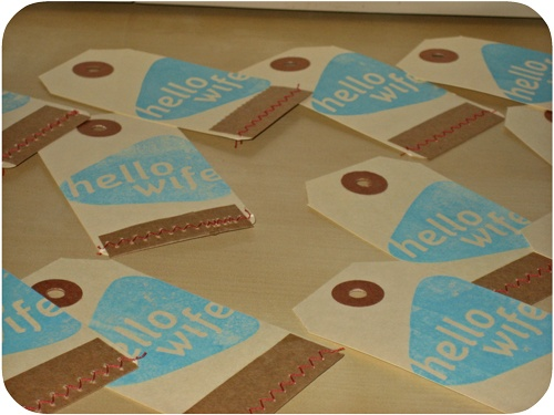 Jess' Business card tutorial with shipping tags and kraft paper