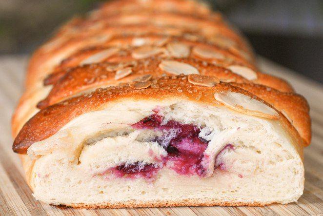 Braided Strawberry Cheese Bread Recipe — Dishmaps