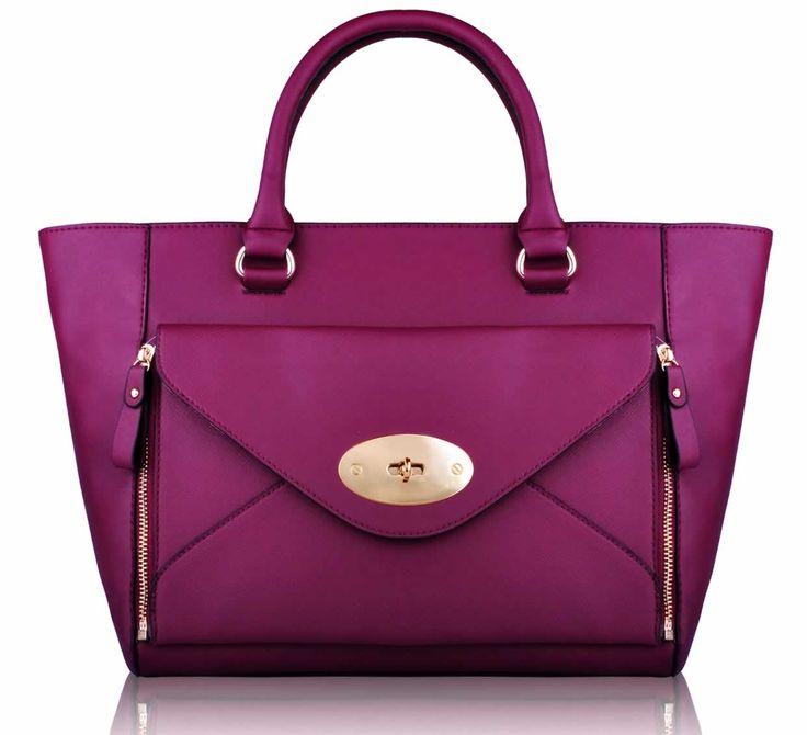 Wholesale Purple Fashion Tote Handbag