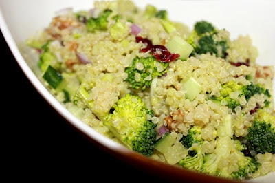 Quinoa salad & avocado lime dressing | Eat....and be merry :) | Pinte ...