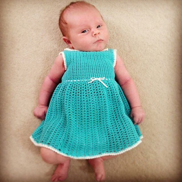 Baby Dresses To Crochet Patterns : Pin by Marlene Brady on Baby & Doll Pinterest