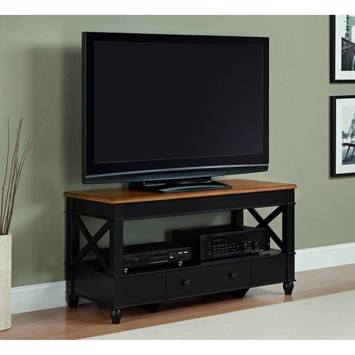 Better homes and gardens autumn lane cherry black tv stand for tvs u Home garden television