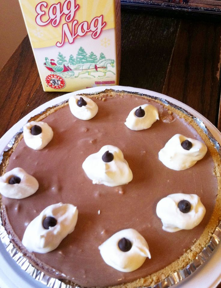 Chocolate Egg Nog Pie (pinning this along with the other one b/c the ...