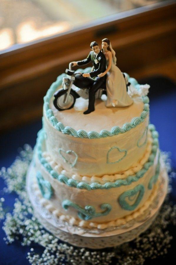 motorcycle wedding cake topper. Black Bedroom Furniture Sets. Home Design Ideas
