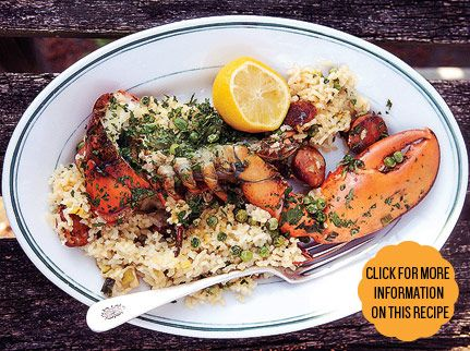 Grilled Lobster Paella. I wonder if I can sub it out for shrimp and ...