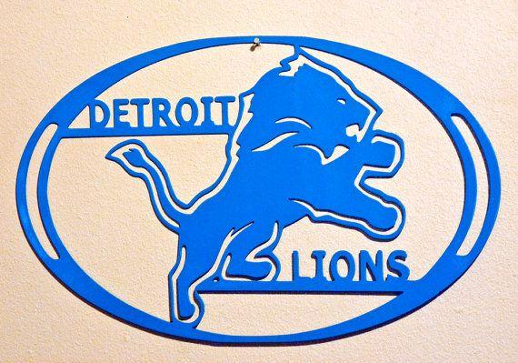 Detroit Lions Wall Art Metal Art Home Decor Football