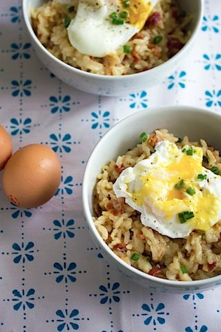 Breakfast Risotto with a Poached Egg | Healthy Foods | Pinterest