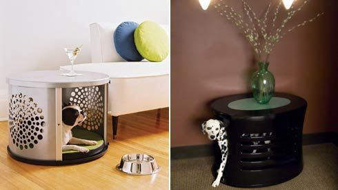Furniture that doubles as comfy hideaways for pets from Denhaus.