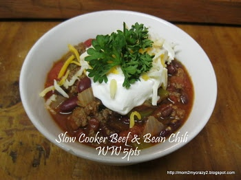 Slow Cooker Beef & Bean Chili (WW 5pts) | MADE - No Fluffy Girl Recip ...