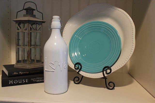 painted glass do with bottles vases etc this one uses hot glue gun. Black Bedroom Furniture Sets. Home Design Ideas