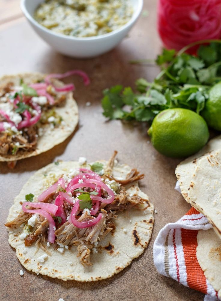 Carnitas Tacos with Pickled Onions and Salsa Verde | Recipe