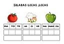 Sílabas locas - una actividad de lectoescritura en español.