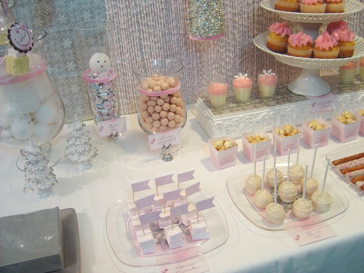 pink winter baby shower shower ideas pinterest