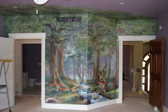 murals enchanted forest little girl 39 s room ideas