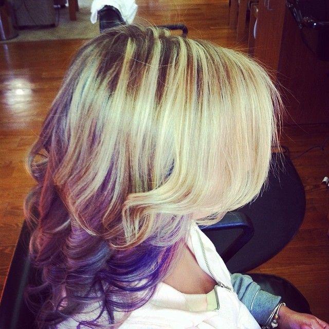 lowlights #highlights #purple