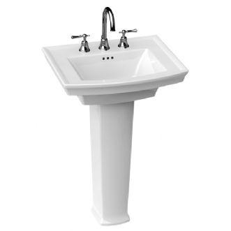 Porcher Pedestal Sink : Porcher - Chapeau Pedestal Lavatory - 24 x 19 11/16