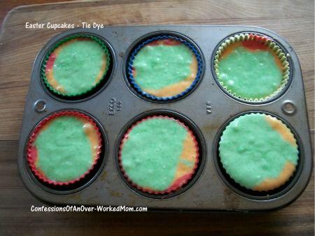Tie-Dye Fruity Easter Cupcake recipe