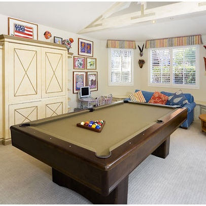 Small space w pool table lach basement pinterest for Small pool table room ideas