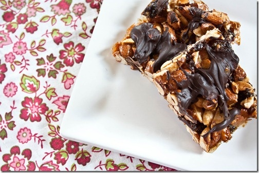 Chocolate Cherry Cashew Bars #bars | Recipes - Bars | Pinterest