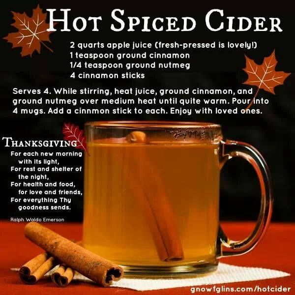 Hot Spiced Cider | Recipes | Pinterest