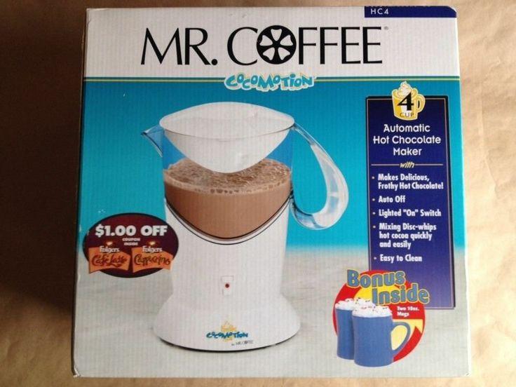 Hot Chocolate Coffee Maker ~ Mr coffee cocomotion automatic hot chocolate maker nib