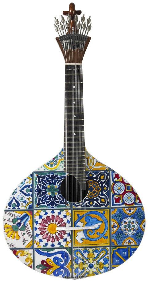 Guitarra da Coleção Malabar - Tema Azulejos