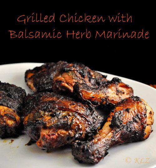 Grilled Chicken With Balsamic Herb Marinade. wrightsliquidsmoke.com # ...