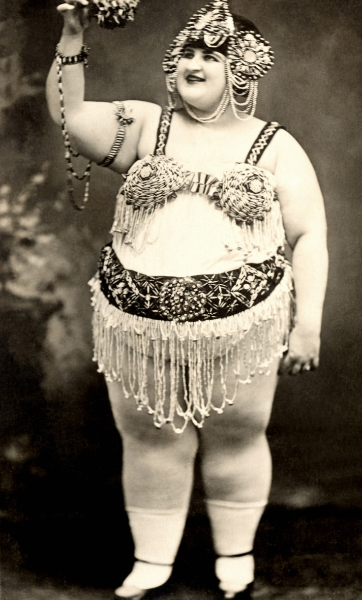 "Girls just want to have fun.  Antique Freak Show, ""Fat Lady"" ----"
