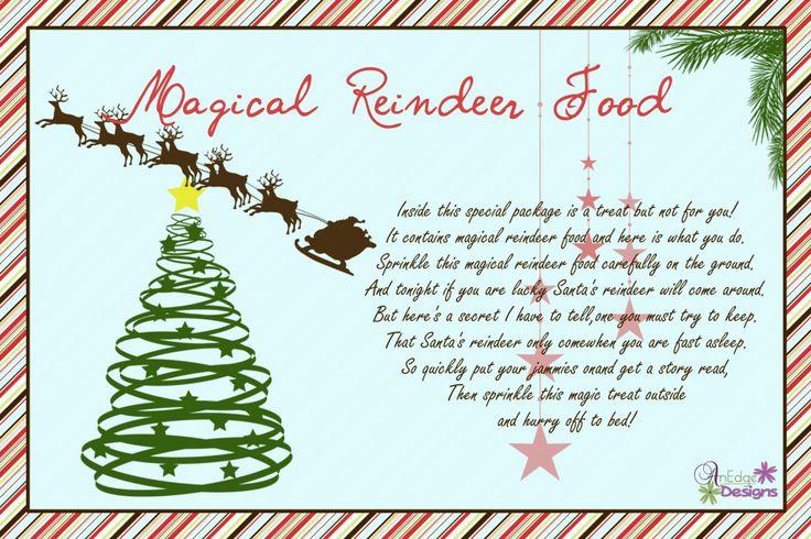 Printable Reindeer Food Poem | New Calendar Template Site