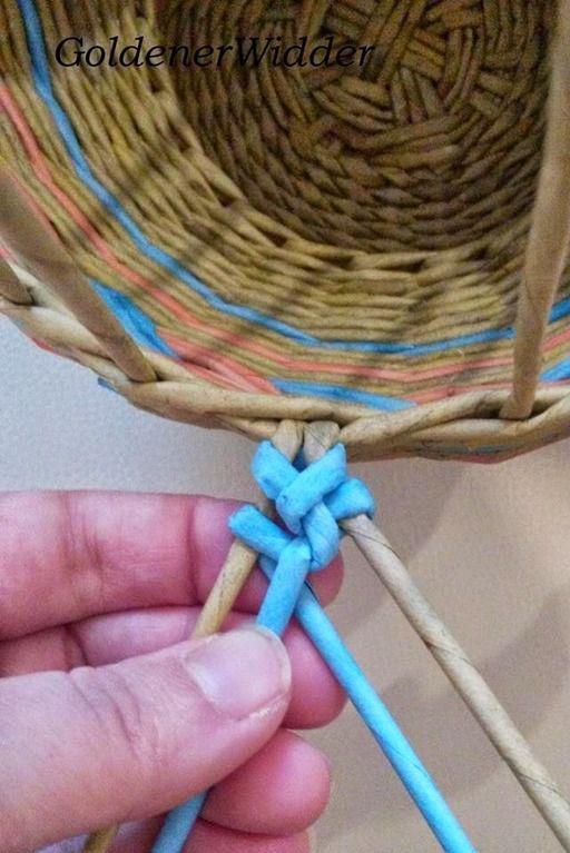 Плетение газетой мк